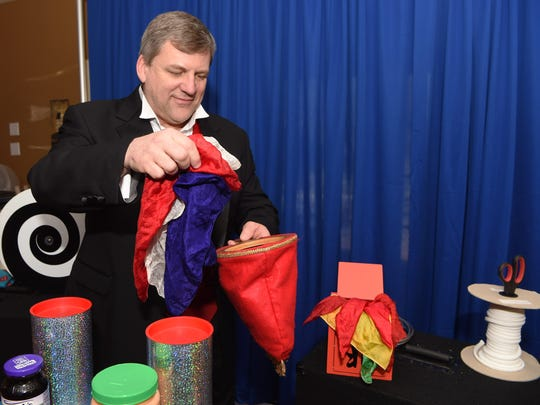 Kevin Wurster, a magician, pictured in his Newburgh home.