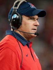 Arizona Wildcats head coach Rich Rodriguez see the