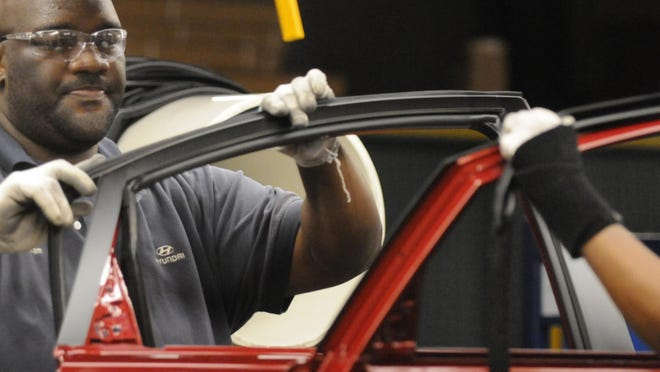 Alabama's automotive industry has helped keep Southeast manufacturing activity on the rise.