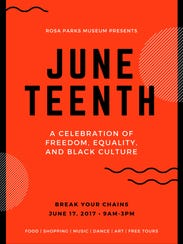 Juneteenth will be celebrated Saturday with a block