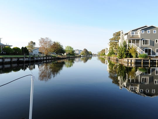 South Bethany's canals.