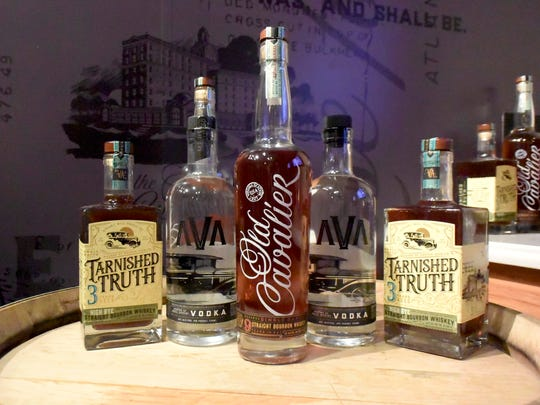 Tarnished Truth Distilling Company products on display
