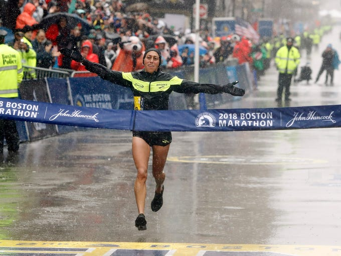 0bd937c76b58f Boston Marathon  Desiree Linden first American woman to win since 1985