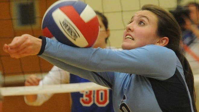 Sarah Smith was an All-Mountain Athletic Conference setter for the Enka volleyball team in 2013.