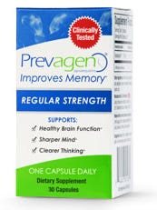 Image from supplement maker Quincy Bioscience's website shows a package of the firm's Prevagen supplemen.