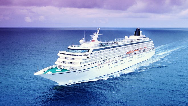 The 848-passenger Crystal Symphony is in the midst of an epic, 114-day world cruise from South Africa to Florida.