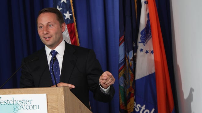 Westchester County Executive Rob Astorino speaks about the county's 2009 affordable housing settlement with the Housing and Urban Development, and a recent letter from the federal agency he said makes further unfair demands, during a press conference in White Plains on July 15, 2011.