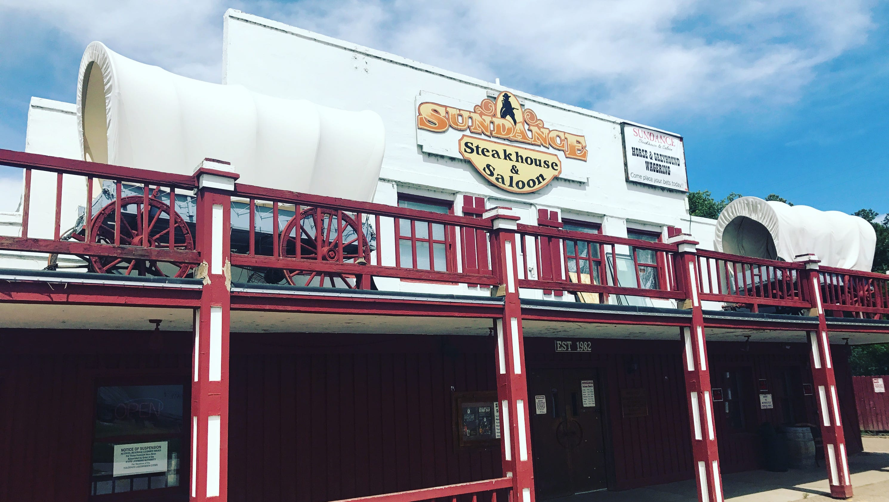 Liquor license suspended for Sundance Steakhouse Saloon