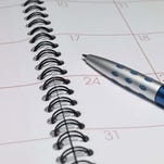 Appointment book and pen