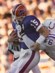 Todd Collins had a rough go of it replacing Hall of Famer Jim Kelly.
