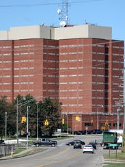 Exterior of the Macomb County jail on Thursday, October