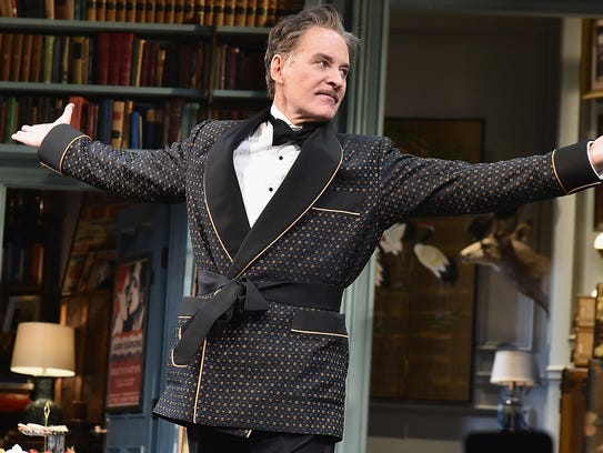 Kevin Kline during a curtain call for 'Present Laughter'
