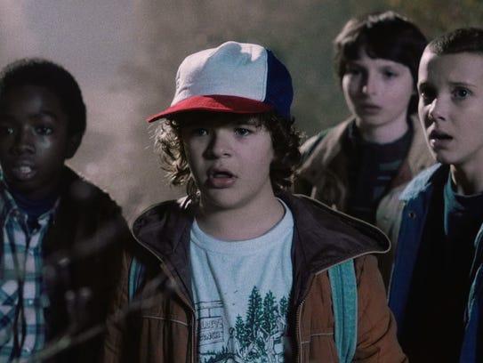 "A scene from Netflix's latest hit, ""Stranger Things."""