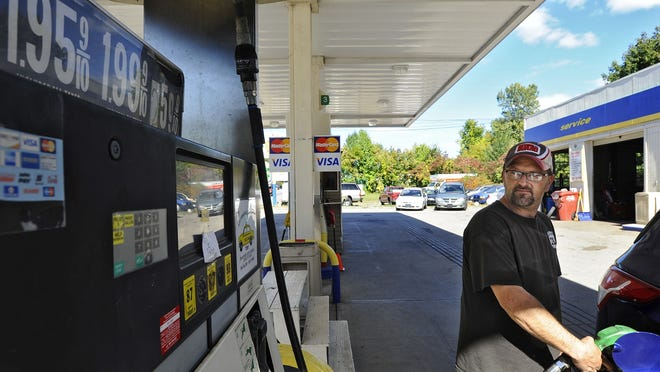 Worcester gas prices rose to $2.10 a gallon on Monday.