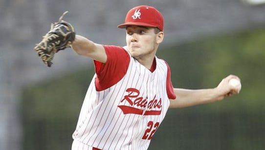 North Rockland pitcher Eric Sandusky (22) delvers a
