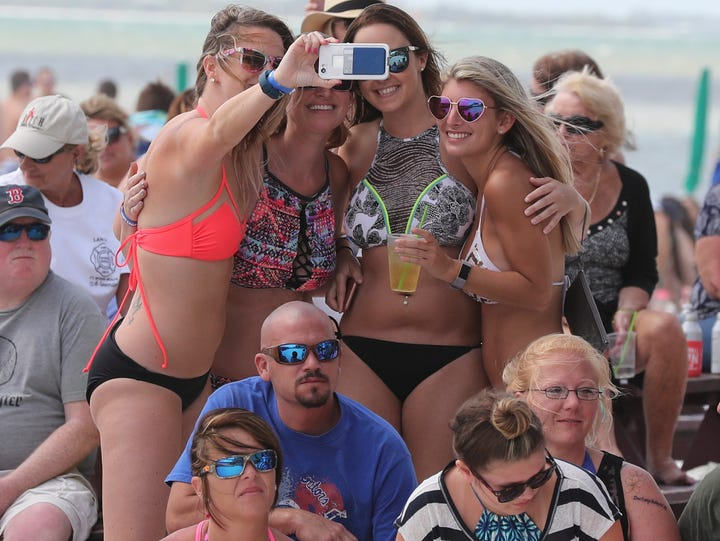 File photo from Spring Break 2017 on Fort Myers Beach.