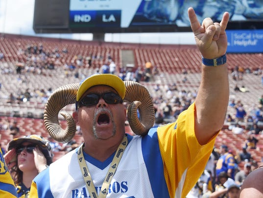 USP NFL: INDIANAPOLIS COLTS AT LOS ANGELES RAMS S FBN LAR IND USA CA