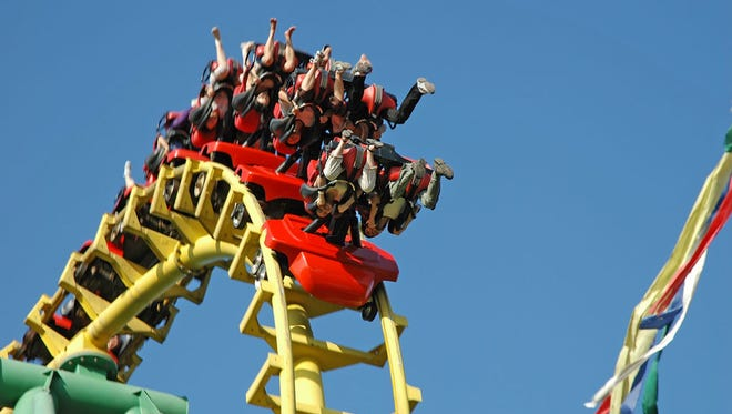 T3 (Terror to the Third Power) is one of several new rides opening this season at Kentucky Kingdom.