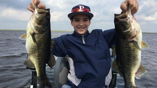 Judson Looper of California celebrated his 13th birthday last week while fishing Lake Okeechobee with Capt. Nate Shellen of Okeechobeebassfishing.com.