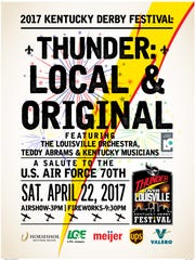 The official 2017 Thunder Over Louisville poster
