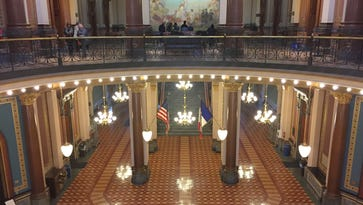 The interior of the Iowa Capitol in Des Moines.
