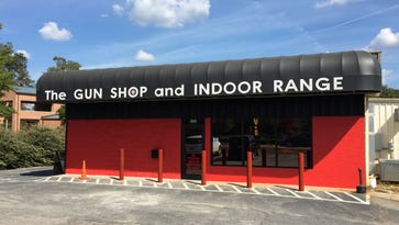 New bollards have been installed at The Gun Shop in Simpsonville following a burglary in which a stolen minivan was intentionally crashed into the front door.