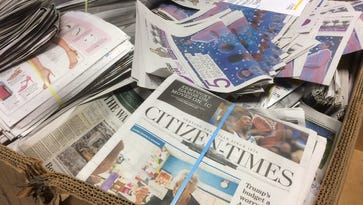 It is OK to use old newspapers in compost, but it's best to limit their use and be sure to shred them first.