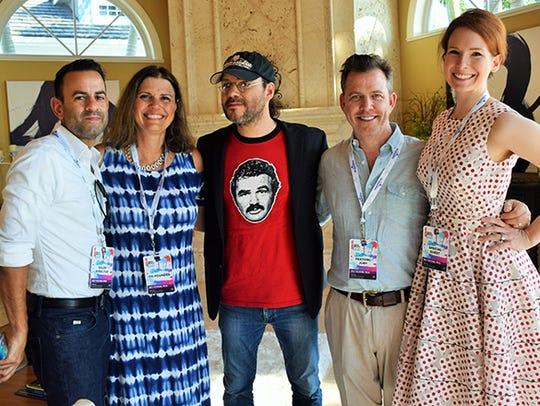 Oscar Sales and Susan K. Horn welcome filmmakers Adam