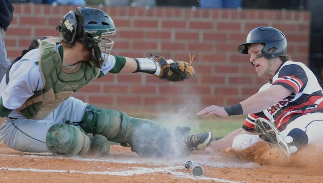 Reynolds' Casey Williams, left, and North Buncombe's Carson Jones are teammates on the Asheville Post 70 baseball team.