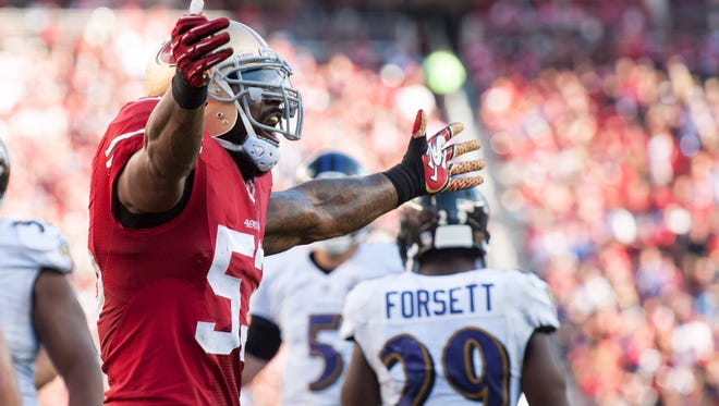 San Francisco 49ers inside linebacker NaVorro Bowman has returned from injury to play at a high level.