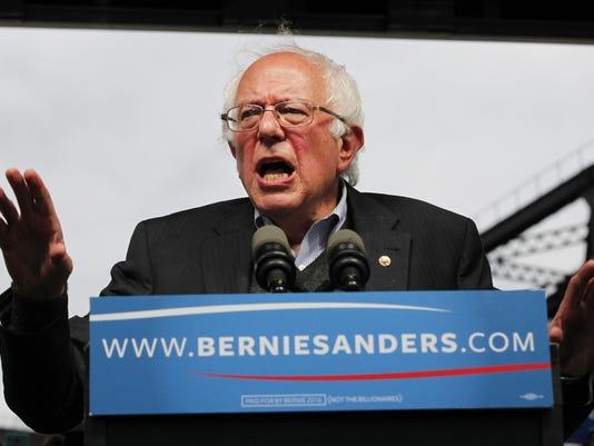 Bernie Sanders Holds Election Night Rally In Louisville, Kentucky