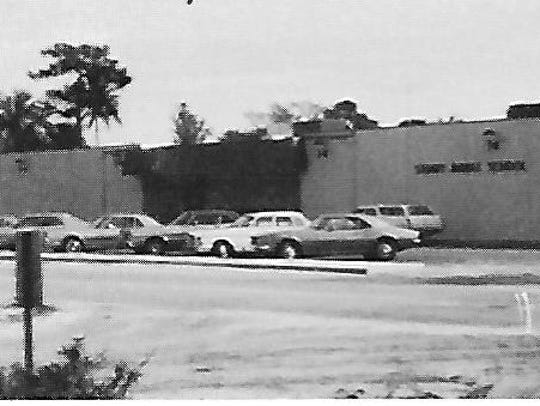 Front entrance of Stuart Middle School in 1972.