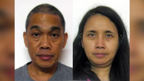 Mario Fernando J. Cortez, left, and Elaine P. Cortez are shown in this combined image. The husband and wife are accused of attempted tax evasion.