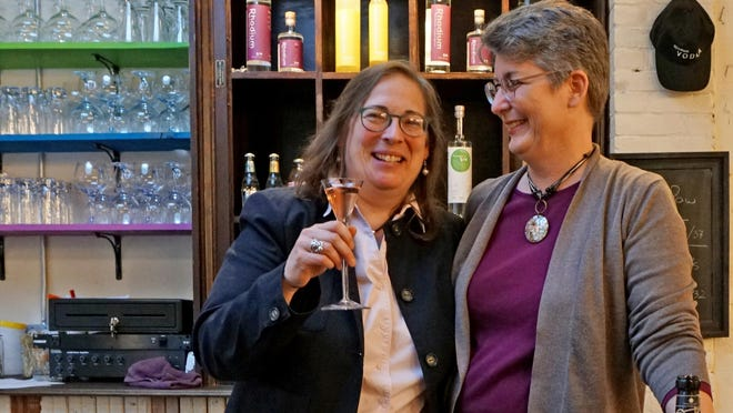 Rhode Island Spirits, the distillery and tasting room at 59 Blackstone Ave., Pawtucket, celebrated their one-year anniversary last December with owners Kara Larson and Cathy Plourde.