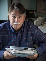 Claburn Niven Jones, 63, is photographed with his medical