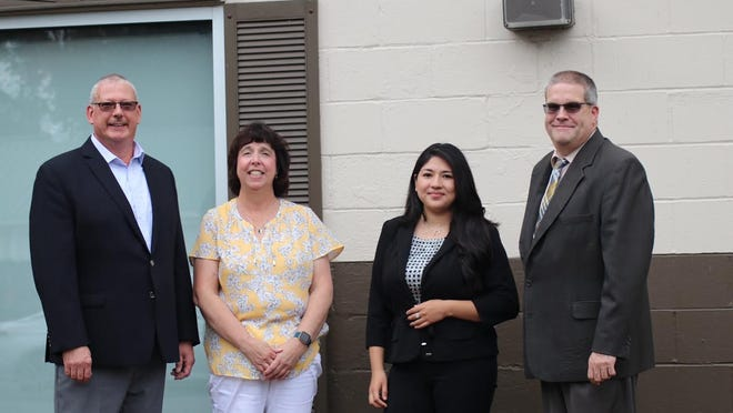 The newly independent Scott Healy CPA LLC, 103 Colton Ave., Newark, provides accounting, consulting and tax services. Pictured, from left, are Scott Healy, Kim Healy, Bella Olivera-Hernandez and Doug Forgue.