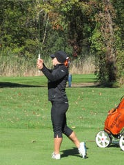 Brighton's Annie Pietila heads into the state golf