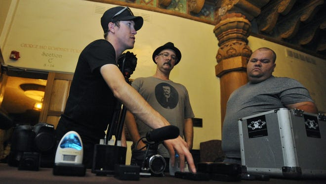 APRA team members Brandon Alvis, Matt Goldman and Michael Rudie prepare for the Fox Theatre investigation in October 2016.
