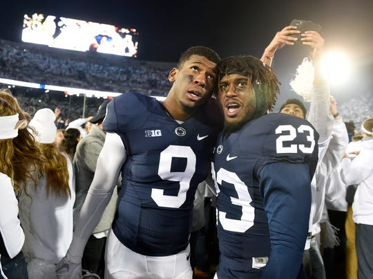 Safety Ayron Monroe (23) expected to compete for a starting spot next season. Instead, he now is looking to transfer out, along with 10 other Nittany Lions. Better incoming recruits and less stringent transfer rules account for at least some of the rush.
