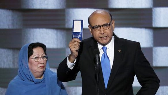 Ghazala (left) and Khizr Khan.
