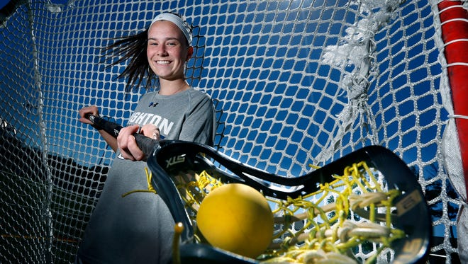 Senior Katie Smolensky led Brighton to a berth in the state Class B girls lacrosse championship game and is the 2018 AGR Girls Lacrosse Player of the Year.