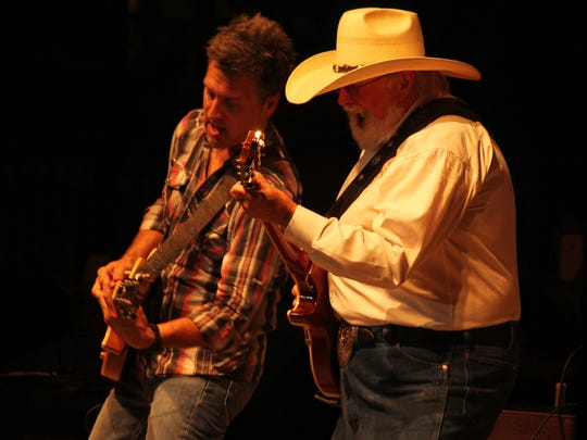 Charlie Daniels, right, performs at Celebrate Anderson.