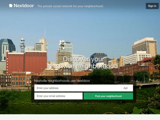 Nextdoor Nashville login