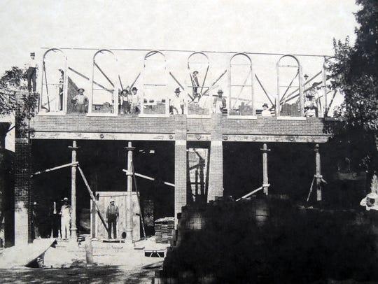 The Bricker-Price Block is shown under construction