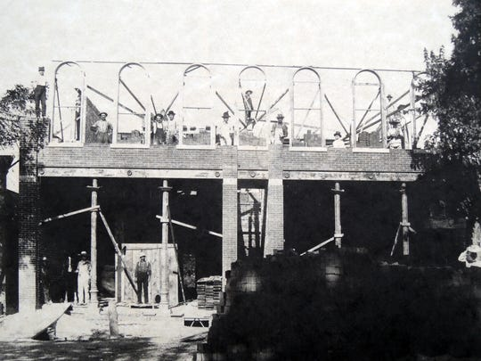 The Bricker-Price Block is shown under construction