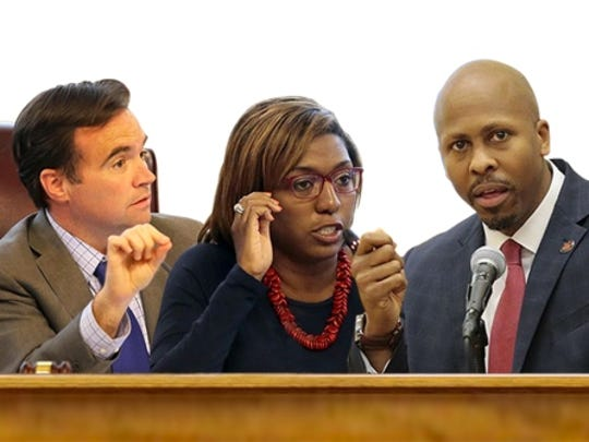 John Cranley, Yvette Simpson and Rob Richardson Jr.