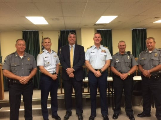 Pictured from Left to Right: Col. Rick Lauderman, Chief,