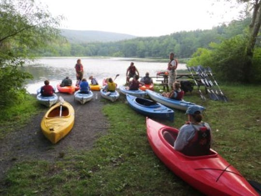 Pine Grove Furnace offers free kayaking classes in the summer.