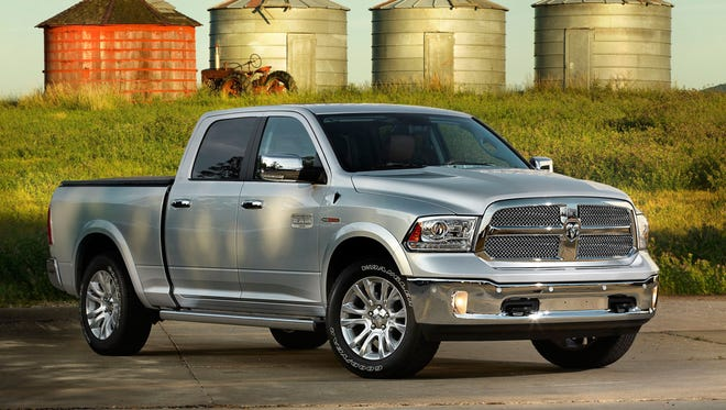 The 2014 Ram 1500 EcoDiesel has the small diesel engine that sets it apart from other pickups