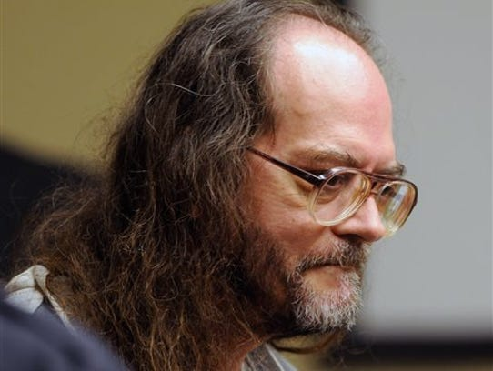 FILE - In this Aug 16, 2010, file photo, Billy Ray Irick, who is on death row for raping and killing a 7-year-old girl in 1985, appears in a Knoxville, Tenn., courtroom.